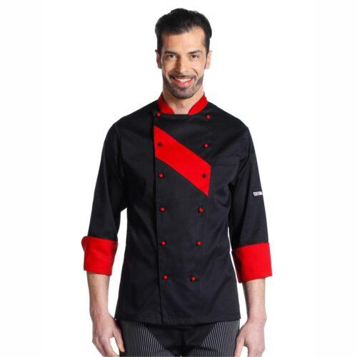 giacca-chef-nero-rosso-divise-cucina-offerta