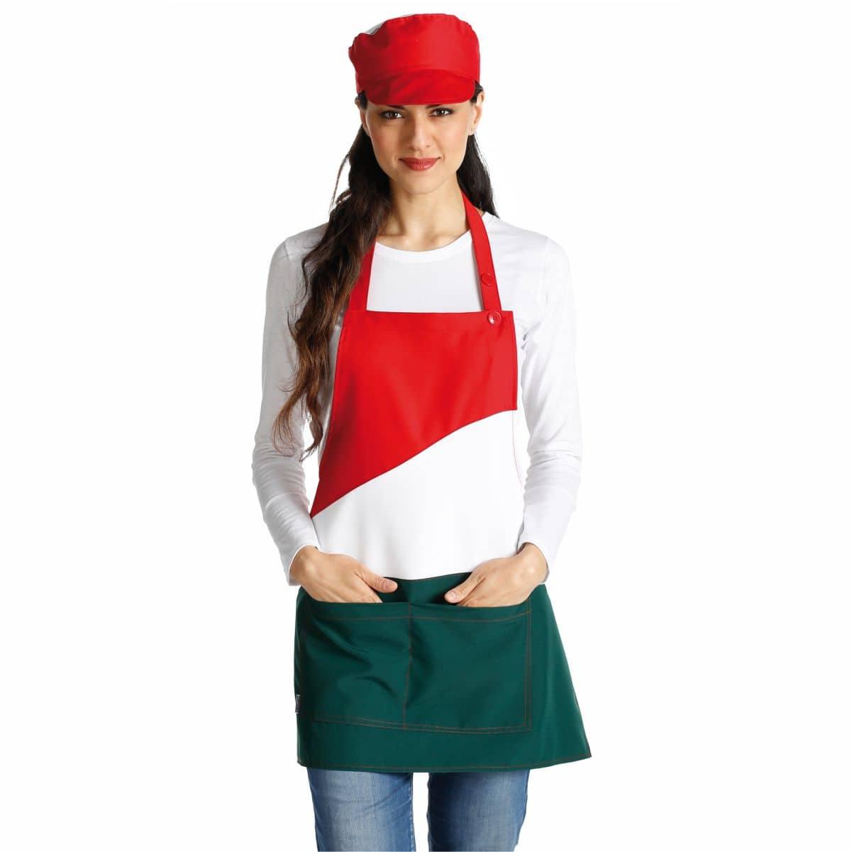 grembiule donna alimentari tricolore