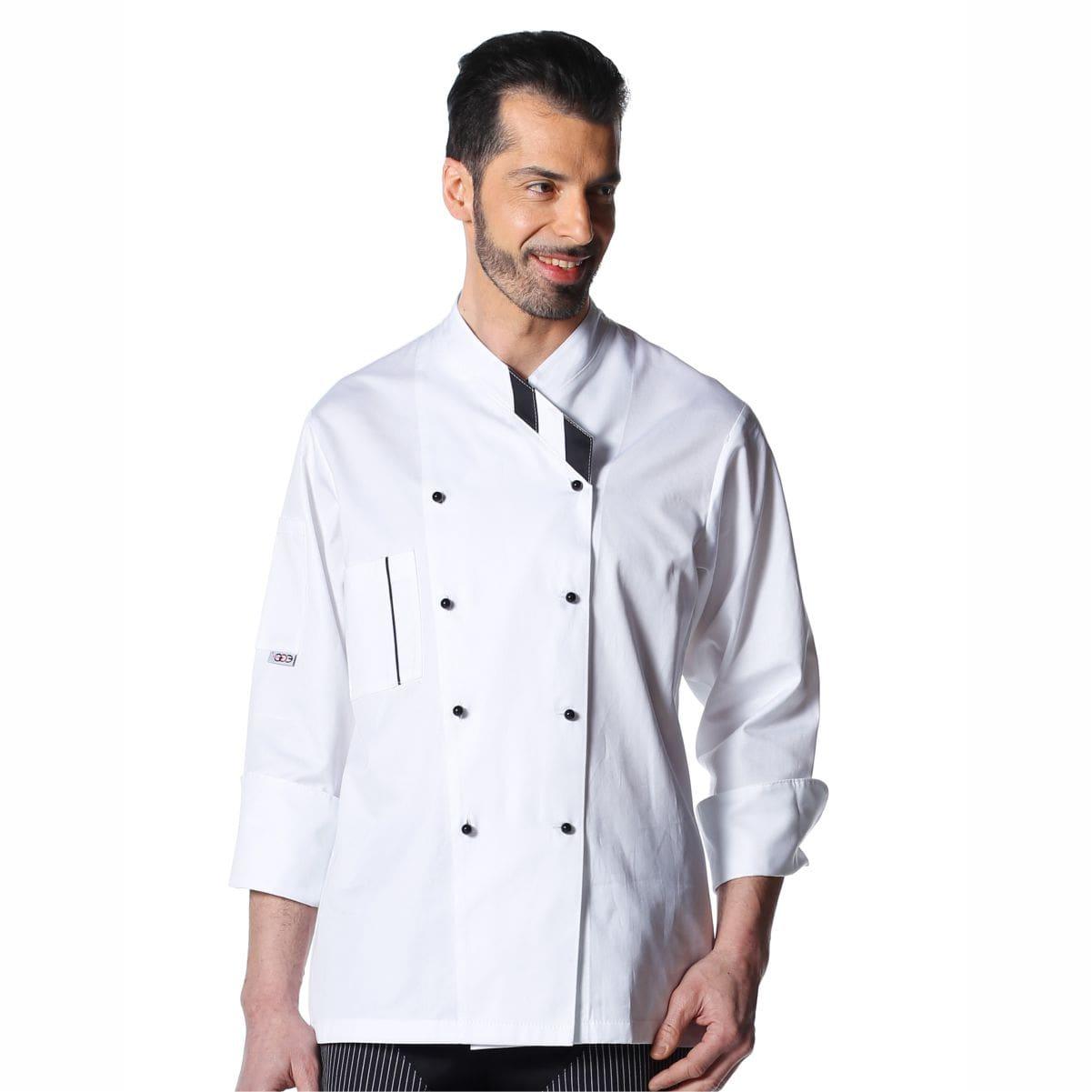 Ristorante Personale Cotone Doppio Petto Lavorando Uniforme weiwei Uomini Chefs Giacca semplicit/à Pieno Maniche Chef Cappotto per Cuochi