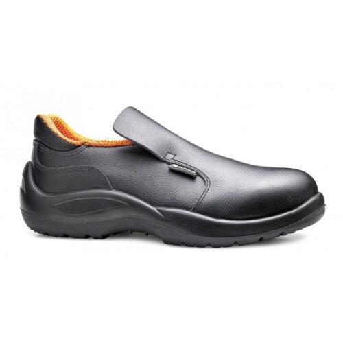 calzature antifortunistica cucina-Mocassini Cloro neri BaseProtection
