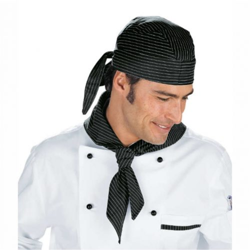 bandana-cuoco-nero-gessato-offerta