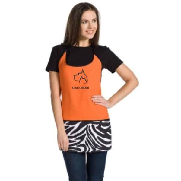 grembiule toelettatore arancione