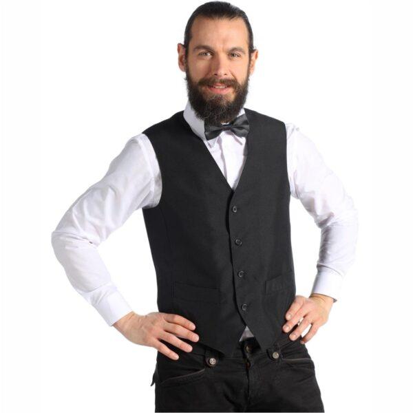 carlo-gilet-cameriere-nero-unisex