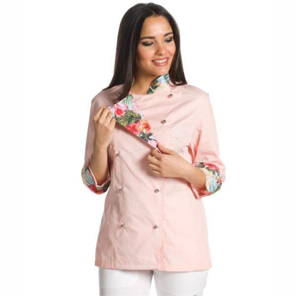giacca chef flamingo rosa