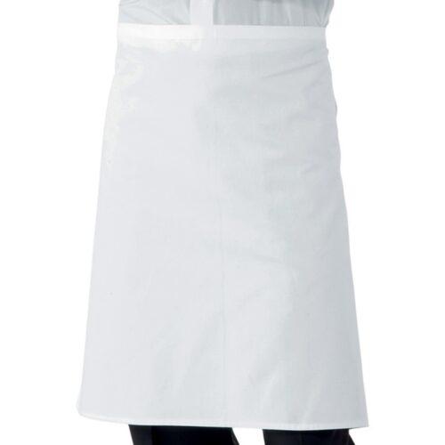 grembiule bianco corto-falda-a-vita-abiti-da-lavoro-cucina-offerta