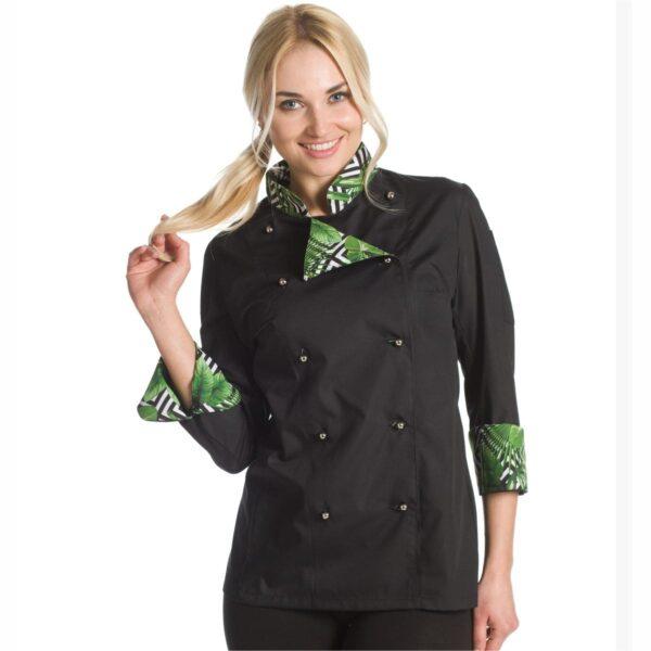 giacca chef donna palme