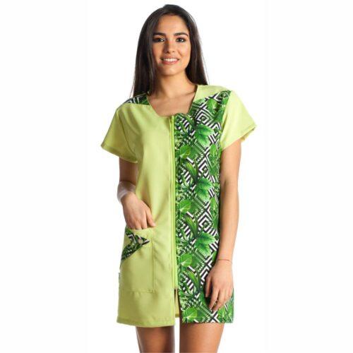 camice donna verde palme
