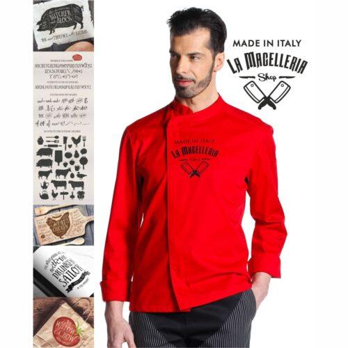 giacca-rossa-abbigliamento-macelleria-personalizzato