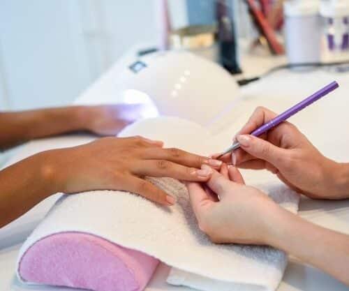asciugamani spugna cotone estetista nails personalizzato
