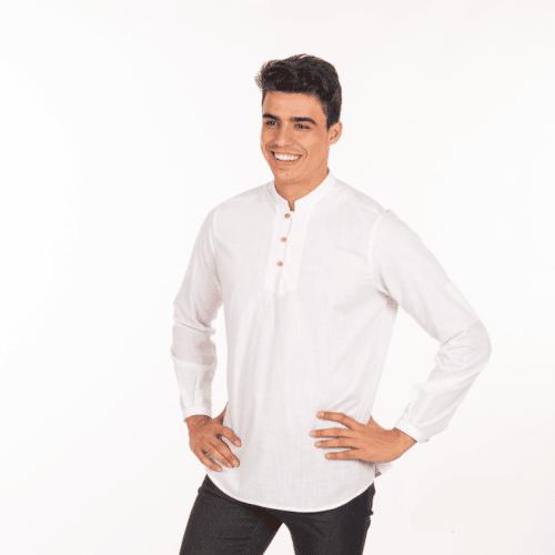 camicia-bianca-bistrot-collo-coreana-vendita-online