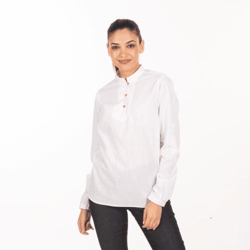 camicia-bianca-cameriera-collo-coreana-vendita-online-retro