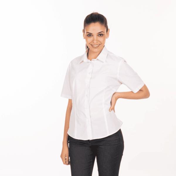 camicia-bianca-donna-ristorante-maniche-corte-vendita-online