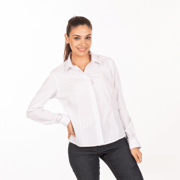 camicia-bianca-donna-ristorante-maniche-lunghe-vendita-online