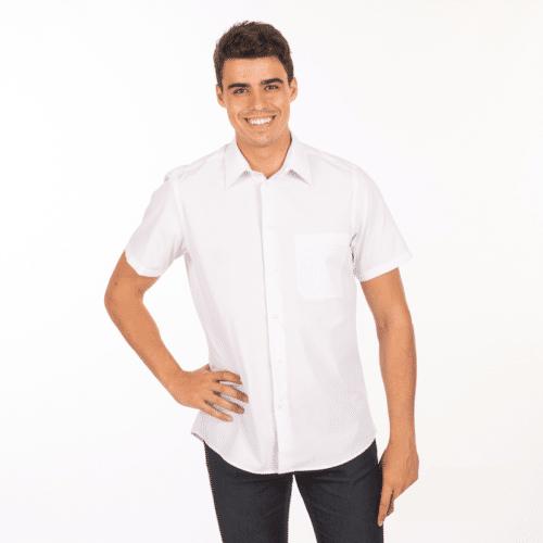 camicia-bianca-ristorante-maniche-corte-vendita-online
