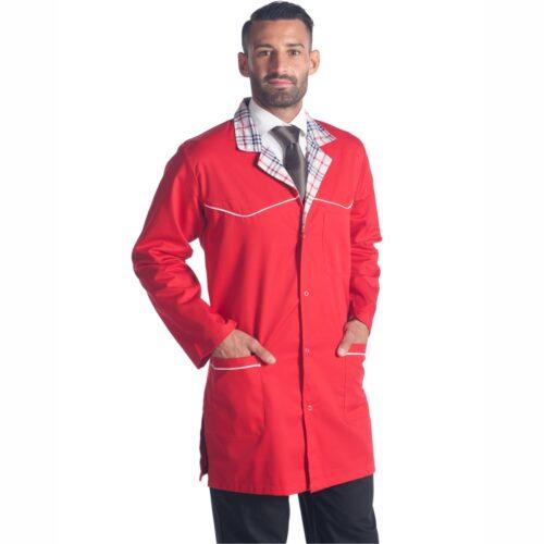 Grembiuli salumeria-Abbigliamento da lavoro macelleria-british-riccardo-rosso-camice-macelleria-milano