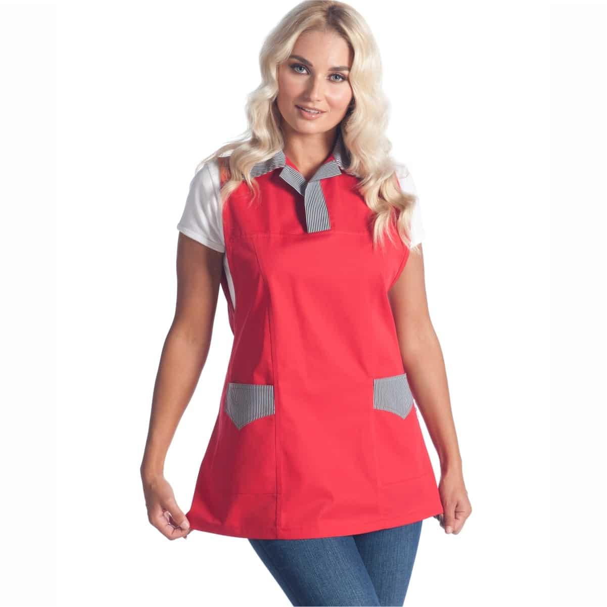 Abbigliamento da lavoro macelleria-lee-poncho-rosso-gastronomia-parma-