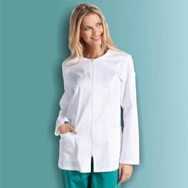Camice da estetista-arianna-casacca-manica-lunga-studio-medico