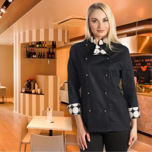 coco-giacca-cuoco-nera-donna-elegante