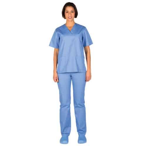 Completo divise infermieri azzurro