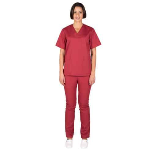 Completo divise infermieri bordeaux