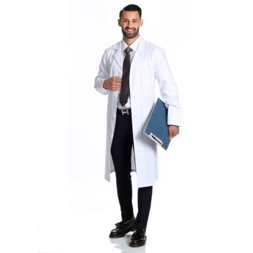 Abbigliamento Sanitario Medico Ospedaliero Camice bianco elegante cotone