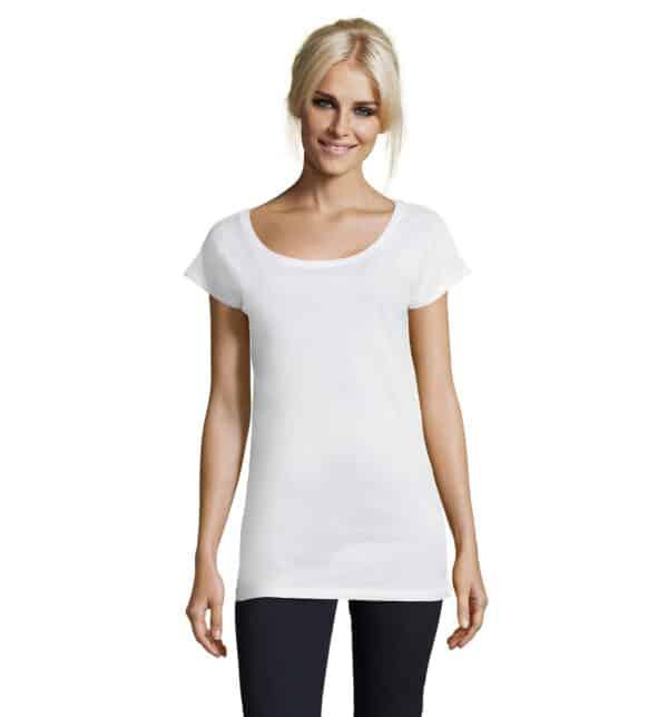 T-shirt donna lunga-marylin-t-shirt-donna-bianca-parrucchiera