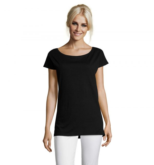 marylin-t-shirt-lunga-donna-nera-parrucchiera