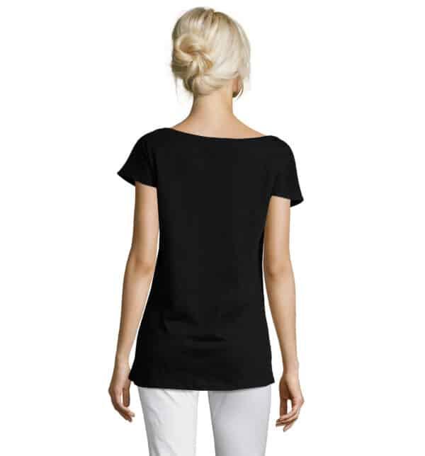 marylin-t-shirt-lunga-donna-nera-parrucchiera-retro