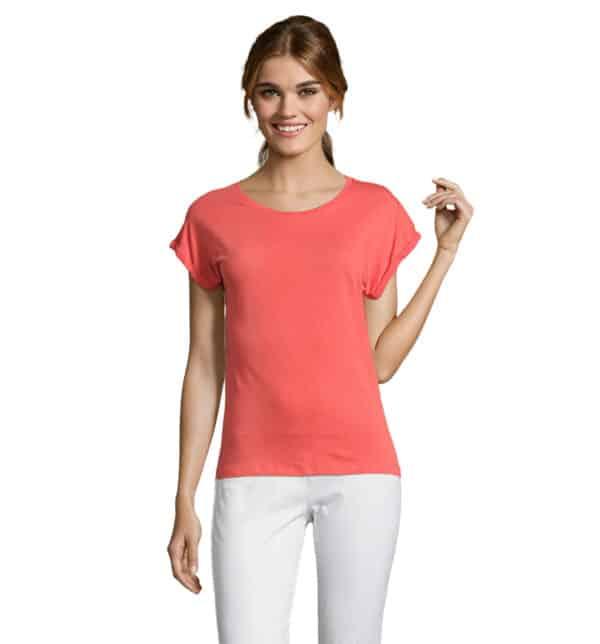melba-t-shirt-donna-corallo-estetista-nails-centro-estetico