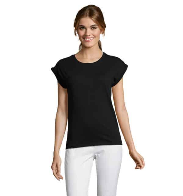 melba-t-shirt-donna-nera-estetista-nails
