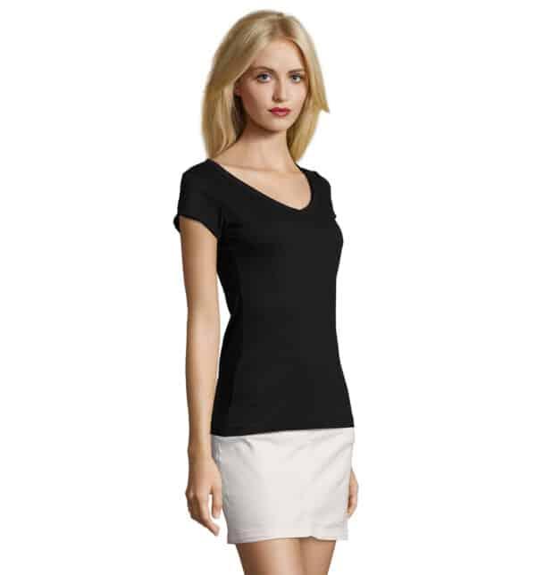 mild-t-shirt-lunga-donna-nera-parrucchiera-part