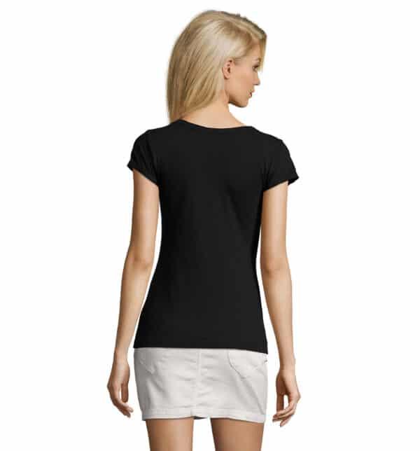 mild-t-shirt-lunga-donna-nera-parrucchiera-retro