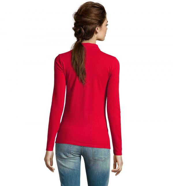 perfect-polo-donna-rossa-da-lavoro-manica-lunga-retro