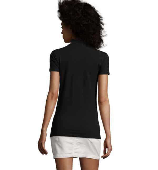 phoenix-polo-donna-nera-elasticizzata-da-lavoro-manica-corta-retro