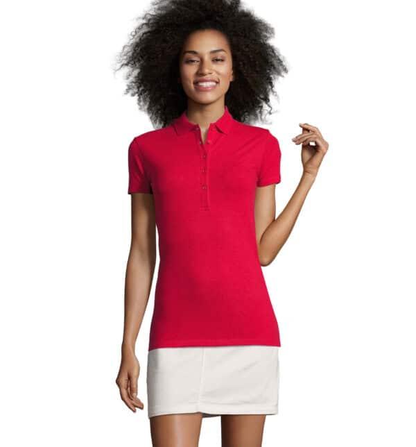 phoenix-polo-donna-rossa-elasticizzata-da-lavoro-manica-corta
