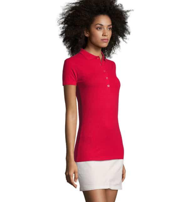 phoenix-polo-donna-rossa-elasticizzata-da-lavoro-manica-corta-part