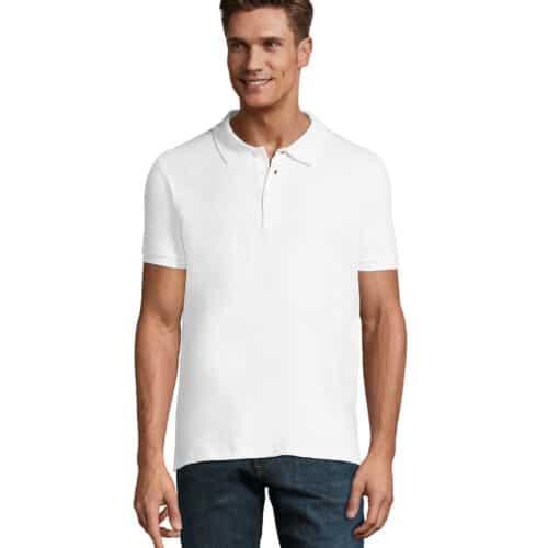 maglia elastan-phoenix-polo-uomo-bianca-elasticizzata-da-lavoro-manica-corta
