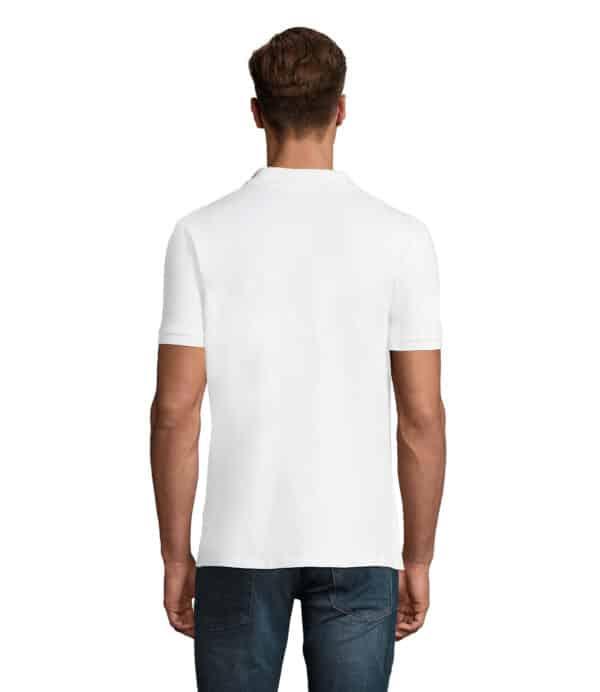 phoenix-polo-uomo-bianca-elasticizzata-da-lavoro-manica-corta-retro
