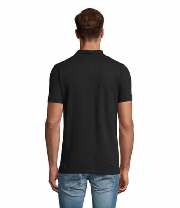 phoenix-polo-uomo-nera-elasticizzata-da-lavoro-manica-corta-retro