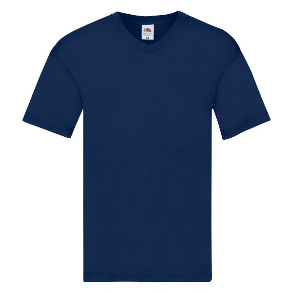 t-shirts-blu-scollo-a-v-fruit-of-loom