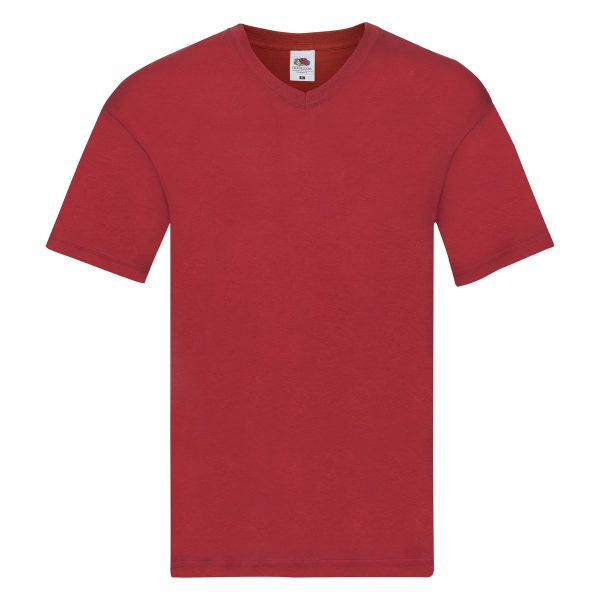 -t-shirts-rosso-scollo-a-v-fruit-of-loom