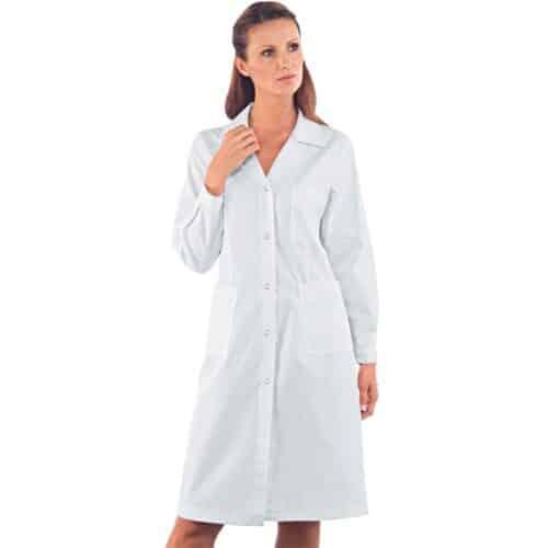 camice da lavoro bianco