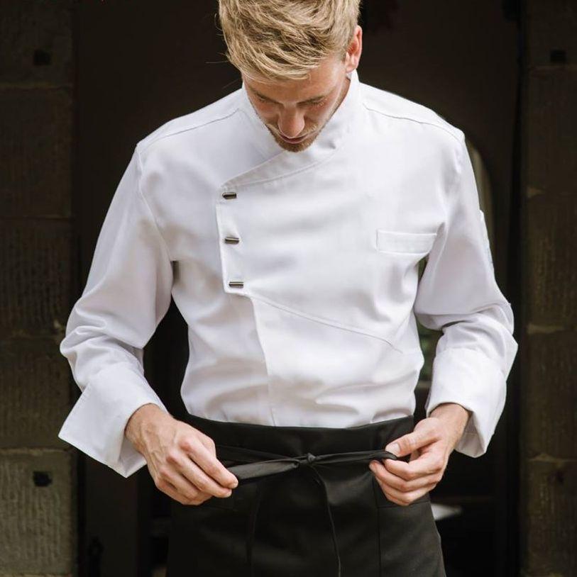 giacca chef bianca personalizzata-giacche-chef-bianche-personalizzate-logo-ricamo