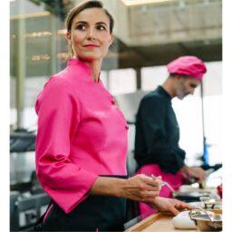 giacca-chef-cucina-donna-fucsia