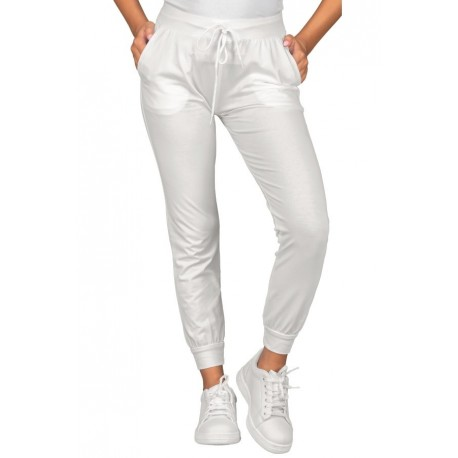 Pantaloni maglina-olimpia-unisex-jersey-bianco-97-cotone-3-spandex-isacco-044900