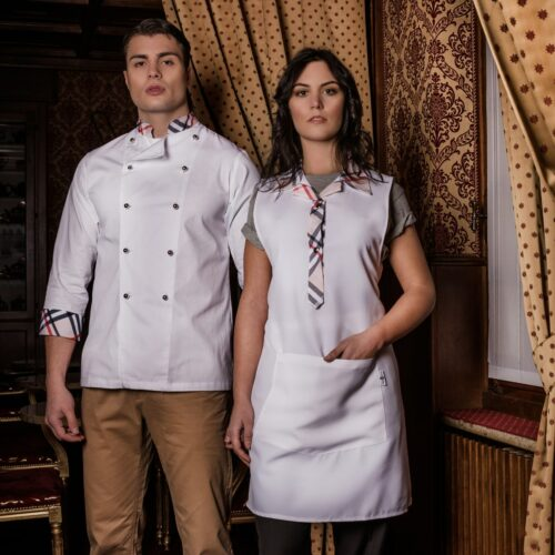 Giacca bianca gelateria-divise-gastronomia-eleganti-westrose