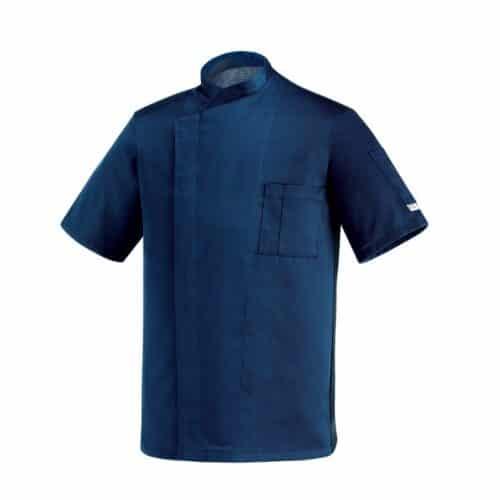 Ottavio blu giacca cuoco manica corta Egochef