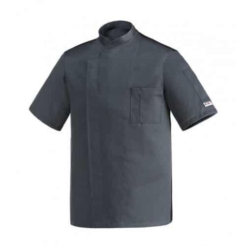 Ottavio grafite giacca cuoco manica corta Egochef
