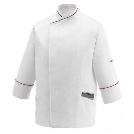 Pocket bianca giacca cuoco Egochef