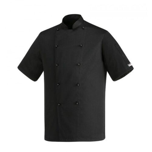 Safety nera manica corta giacca cuoco Egochef